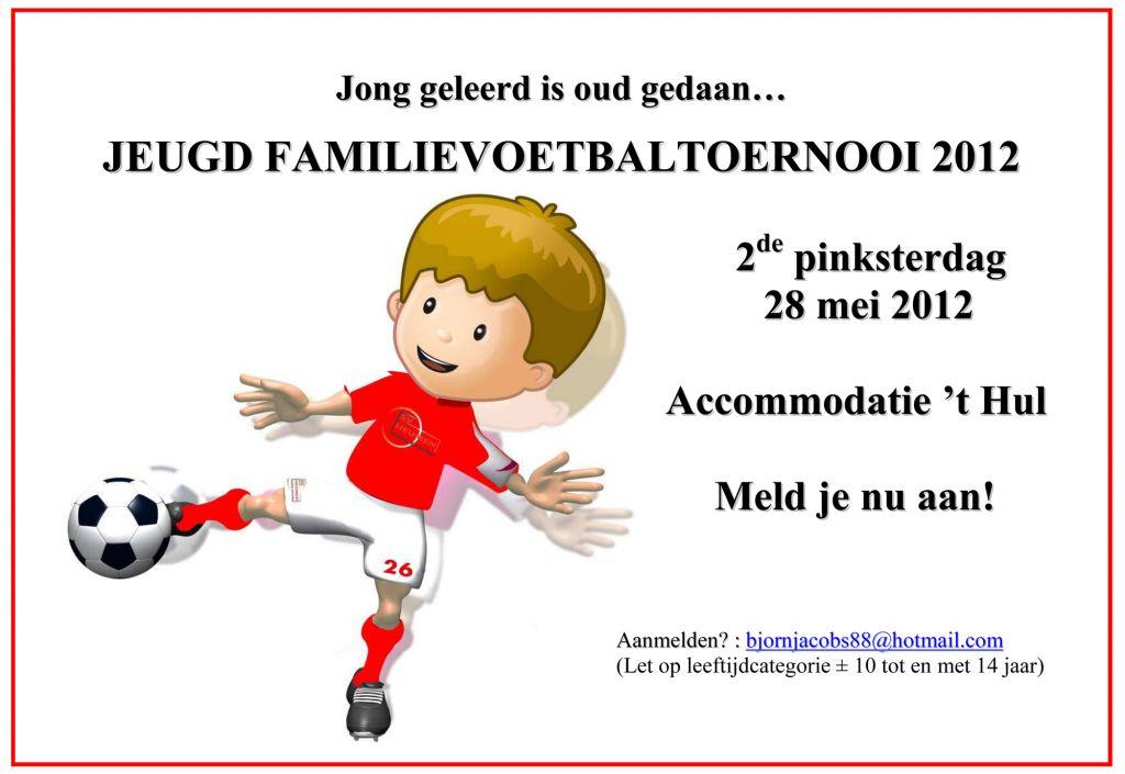 Poster jeugd familievoetbaltoernooi