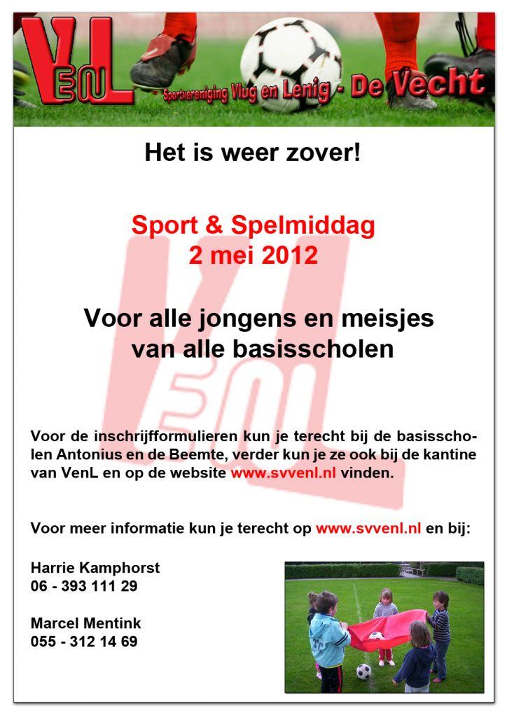 Poster sport en spelmiddag